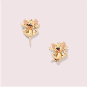 Kate Spade x Tom & Jerry Stud Earrings gold tone